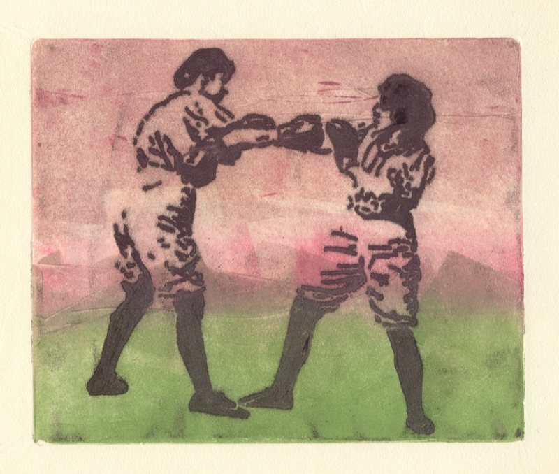 Boxing Bennet Sisters, monotype