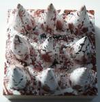 Pollock Peaks, 8x8, encaustic mixed media