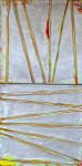 Silver Diffusions, 16x8, encaustic