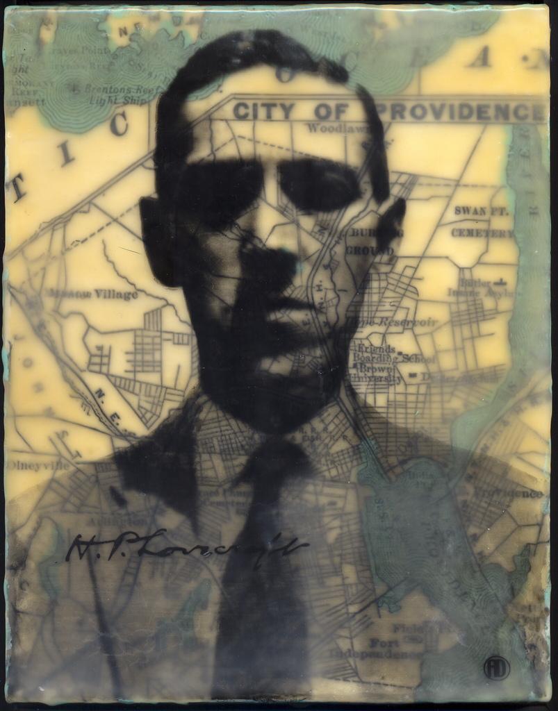I Am (City of) Providence, 10x8, encaustic