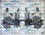 The Fission Trip, 11x14, encaustic with foil